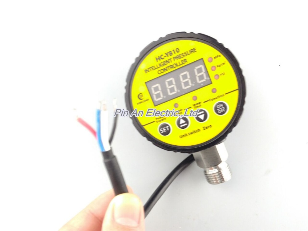 220V AC 0-25mpa Pressure switch / air compressor switch / pump electronic pressure switch/electronic pressure switch 13mm male thread pressure relief valve for air compressor