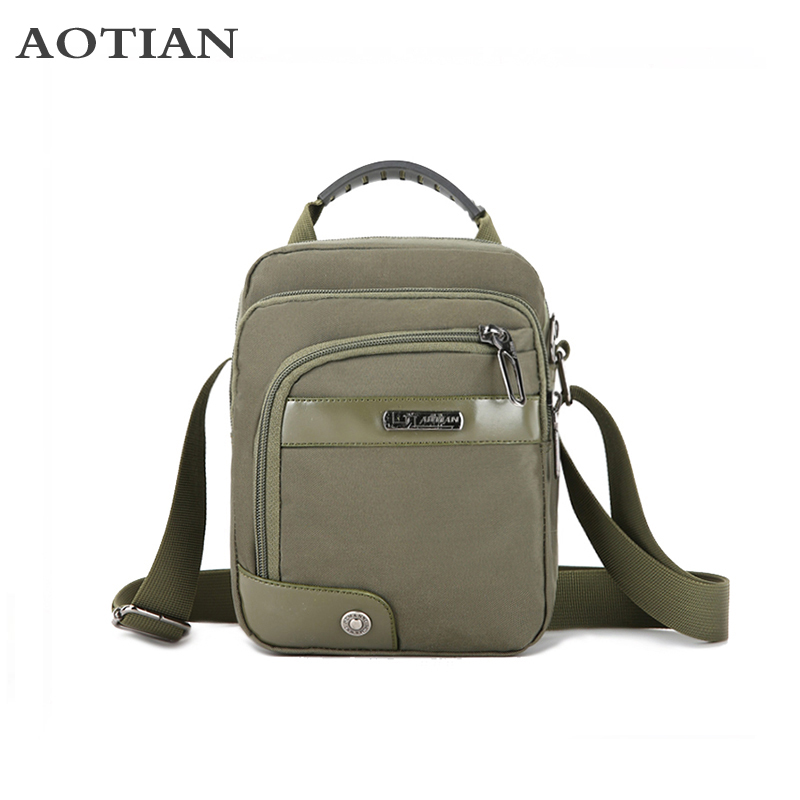 2018 New Fashion Handbag Men Leisure Shoulder Crossbody Bags Messenger Bags Waterproof Nylon Casual Small Business Travel Bags