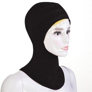 Image 3 - 12 ADET Yeni Altında Şapka Kap Kemik Kaput Ninja Iç Hicap Kadınlar Müslüman İslam Şal Başörtüsü Boyun Tam Kapak Eşarp rastgele Renk