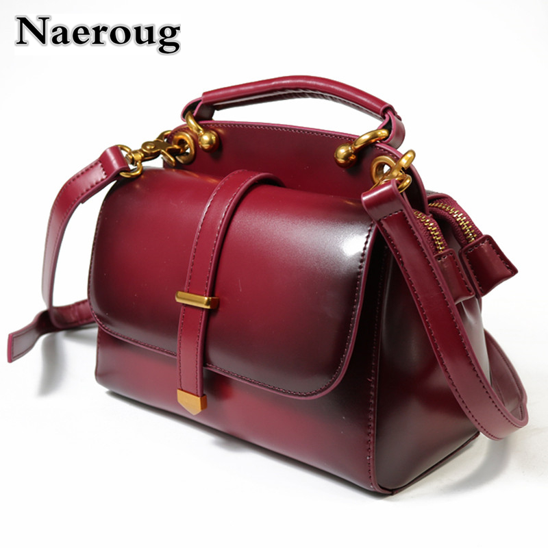Real Leather Bag Cow Leather Bag 100% Genuine Leather Handbag Women Luxury Cross Body Elegant Famous Brand Buckle Bag Sac A Main famous brand bag 100