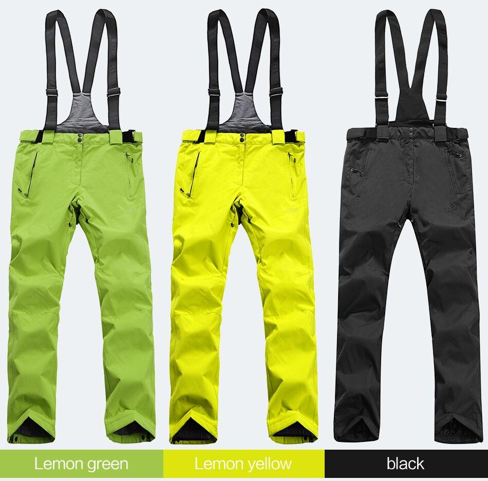 Haute expérience hiver pantalon de Ski femmes pantalon de neige imperméable pantalon de Ski femmes hiver pantalon de Ski femme pantalon de neige 2019 nouveau