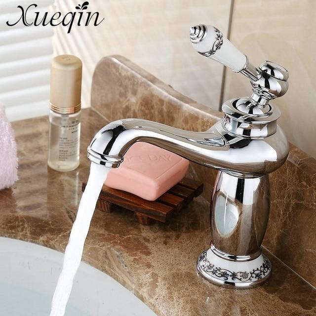 Bad Wasserhähne xueqin antike silber knappe bad wasserhahn antike bronze finish