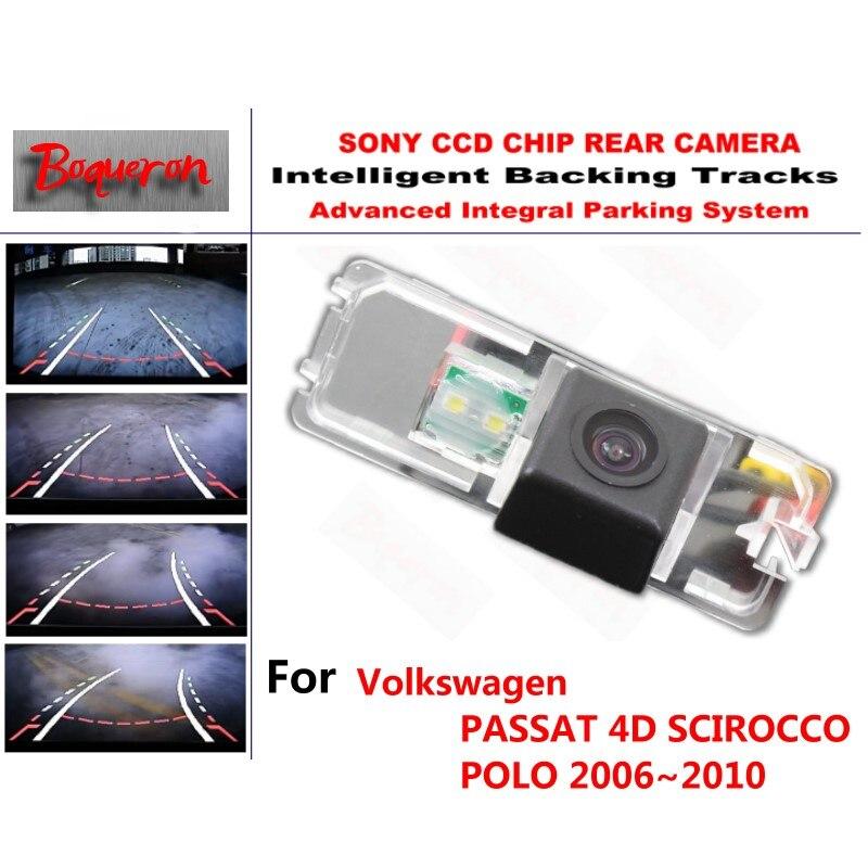 Pour Volkswagen PASSAT 4D SCIROCCO POLO 06 ~ 10 CCD caméra de stationnement de secours de voiture voies intelligentes guidage dynamique caméra de recul
