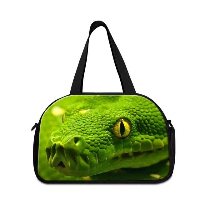 Прохладный Змея путешествия плече сумки животных симпатичные спортивные сумки для дети девушки дорожная сумка мальчики сумка спортивная сумка с обуви карман