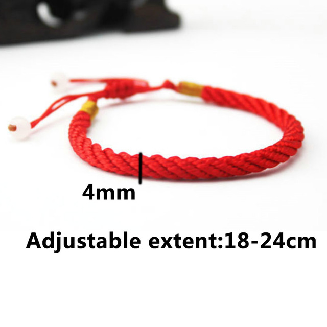 Hot 1PC  Handmade Knit Lucky Chinese Bracelet Adjustable Unisex Red Bracelet Jewelry Gifts  Dropshipping