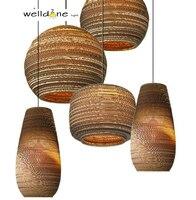 Distinctive Creative brown corrugated cardboard paper Recycled corrugated elegant and delightful light for bedroom Living room