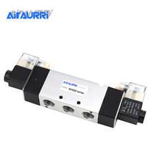 4V420-15 Pneumatic Flow Adjust Solenoid Valve  5 Way 2 Position Electric Magnetic Valve DC24V DC12V AC36V AC110/220V