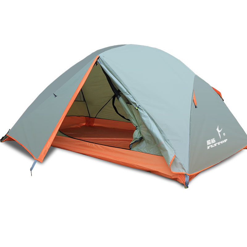 Top Quality 2 Person Camping Tent with Aluminum Alloy Pole Rainproof Separated Double Layer Anti UV