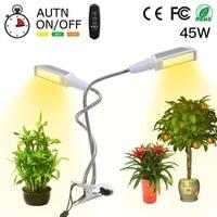 Full Spectrum 96 LED Grow Light for Indoor Plant Double Switch Sunlike Full Spectrum Grow Lamp For Vegetables Potted Landscape