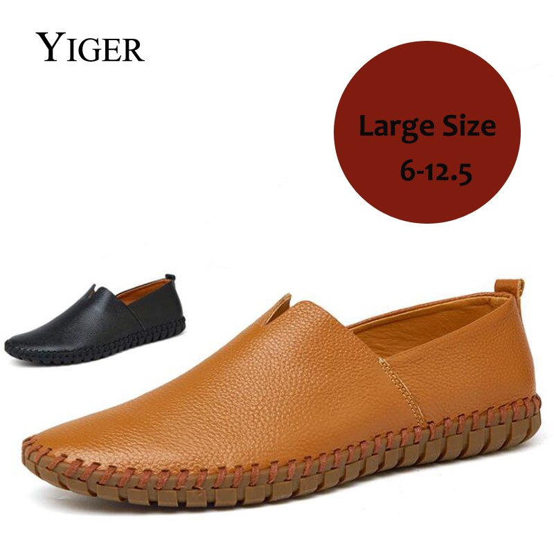 YIGER New 2018 Summer Man Boat shoes Cow Leather Casual Men Shoes Leisure Man Loafers Breathable Black/Brown Free Shipping 0121 free shipping classics brand cow leather clothing man s 100