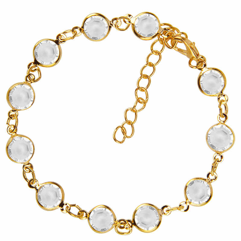 3pcs 1Set 2018 New Fashion Gold Crystal Sequins Anklet for Women Bracelet on The Leg Foot Jewelry Vintage Beach Chain Ankle Gift