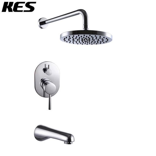 shower faucet kit with valve. KES X6220 Bathroom Single Handle Shower Faucet Trim Valve Body Tub Spout  Complete Kit Polished