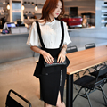 Dabuwawa new arrival black OL suspender skirt