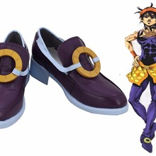 Причудливые невероятное приключение V: Vento Aureo Narancia Ghirga Косплэй; вечерние туфли-лодочки фиолетового цвета; ботинки изготовленные под заказ Любой Размер