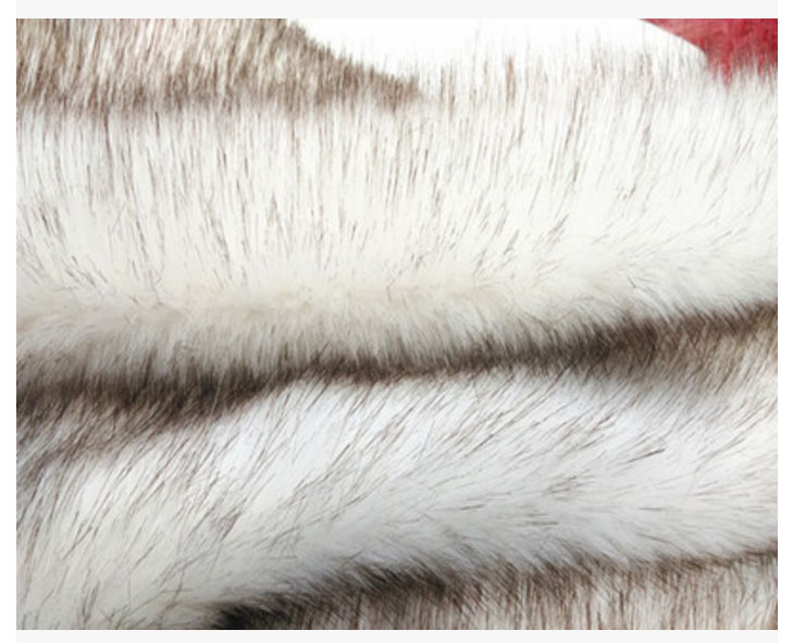 Apparel Sewing & Fabric Fast Deliver High Quality Fox Fur,3-4cm Long Pile Faux Fur Fabric,white Coloer Dye Tip Brown Cloth,photography Rugs Material,170cm*50cm/pcs Online Discount