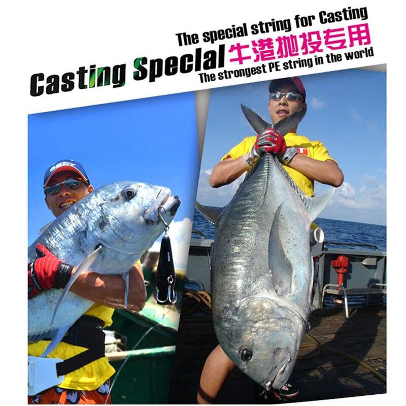 Potencia Pr0 8 trenzada línea de pesca Longitud: 1350 m/1500yds, diámetro: 0,36mm 0,46mm Tamaño: 65 120lb Super EE. UU. PE línea trenzada - 5