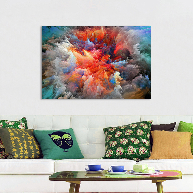 DDWW Wall Art Picture Canvas Painting Abstract Print Cloud Landscape Home Decor Poster For Living Room No Frame
