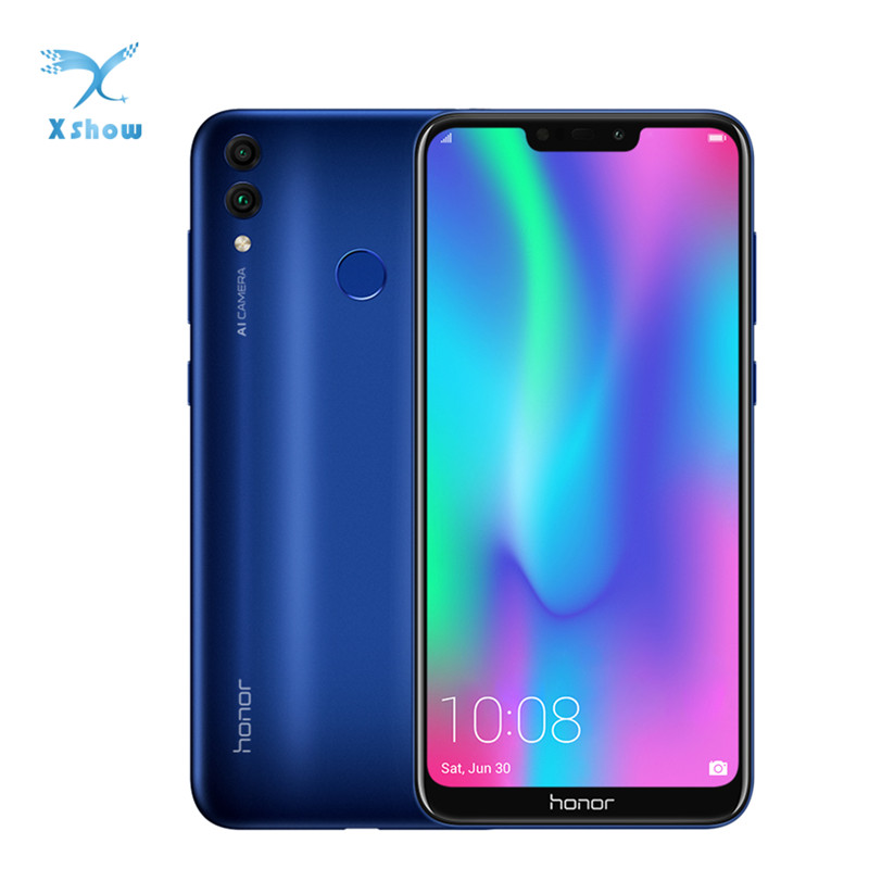 "Global Firmware Honor 8C 4G 4000mAh Smartphone 6.26"" Snapdragon 632 Octa Core Android 8.1 Dual Camera Face ID Mobilephone"