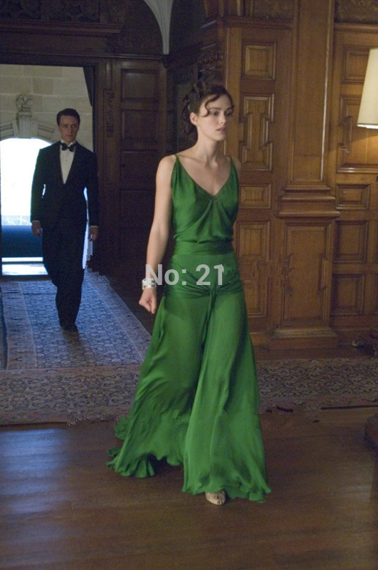 Green 2019 Formal Celebrity Dresses A-line Spaghetti Straps Chiffon Backless Long Evening Dresses Famous Red Carpet Dresses