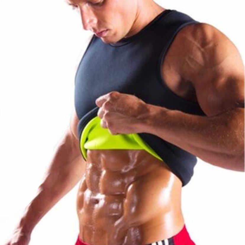 Новая рубашка для коррекции фигуры пояс мужской жилет для похудения формирователь тела неопрен сжигание жира на животе Корректирующее белье Талия Пот подрубаха похудение