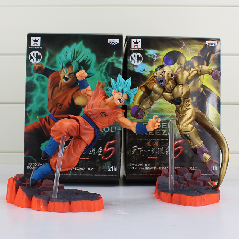 2pcs/lot Dragon Ball Z Resurrection F Golden Frieza freeza freezer VS Goku Action Figure Model Toy PVC Collective Doll anime dragon ball z shf frieza freeza the final form pvc action figure collectible model kids toys doll free shipping