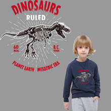 iron on letters dinosaur patch for clothing heat transfer stickers clothes transfert thermocollants t-shirt diy boy