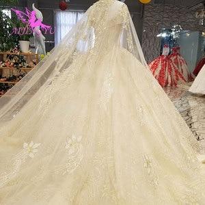 Image 5 - AIJINGYU prenses düğün elbisesi es seksi şeftali resepsiyon Glitter elbisesi kısa düğün elbisesi
