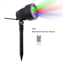 Christmas Laser Projector Stars Red Green Blue Showers lights Outdoor Waterproof IP65 Garden Decoration Static Twinkle RF remote