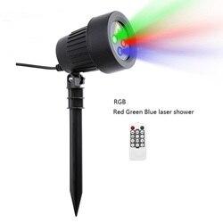 Weihnachten Laser Projektor Sterne Rot Grün Blau Duschen lichter Im Freien Wasserdichte IP65 Garten Dekoration Statische Twinkle remote