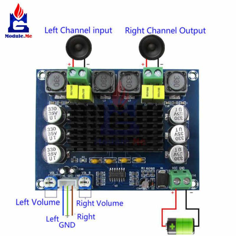 TPA3116D2 TPA3116 XH-M543 Поддержка двух каналов стерео высокое Мощность цифровой аудио Мощность Плата усилителя 120 Вт + 120 Вт Amplificador DIY модуль