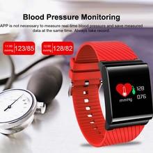 Smart Bracelet for Blood Pressure Blood Oxygen Heart Rate Detection Smart Watch with Color Screen OLED Watch men woman WISHDOIT