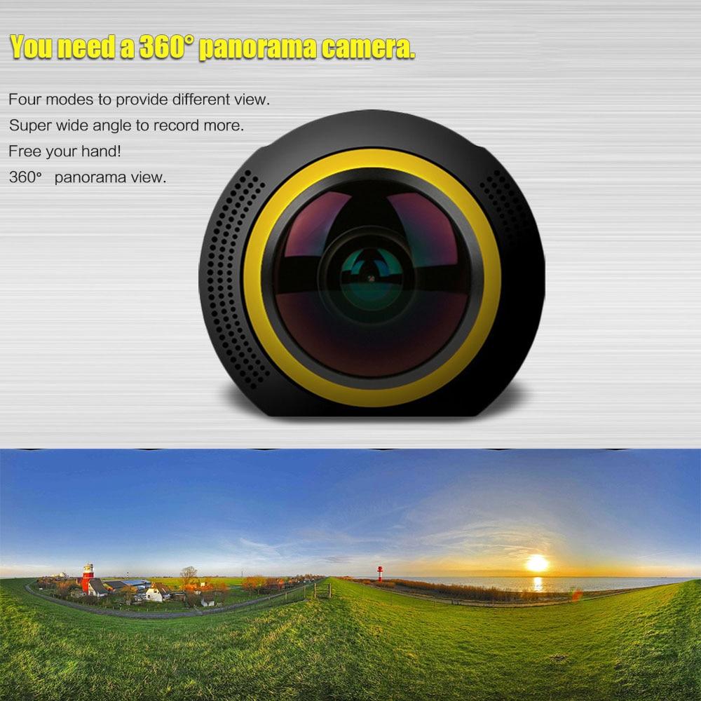 360 Degree Camera Wifi 1080P 30FPS Panorama VR 8MP 236 Fisheye Mini Camera Sports DV Ikeacasa Free Shipping