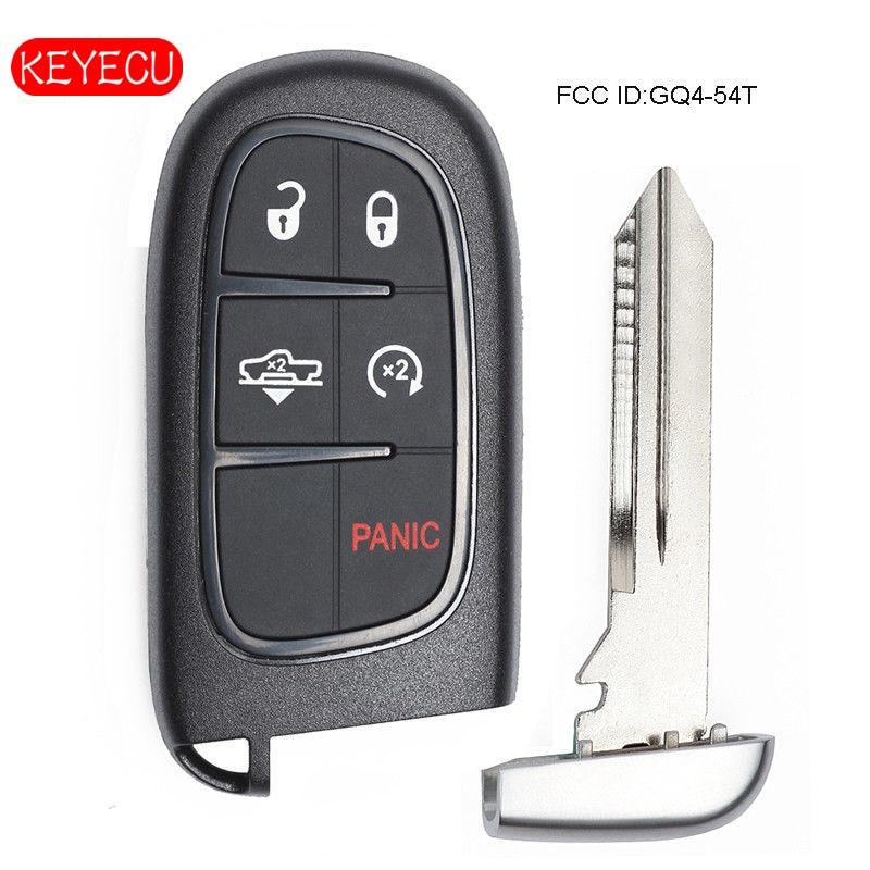 Keyecu Smart Remote Car Key Fob 433MHz 4A Chip for Air Suspension Dodge Ram 1500, 2500, FCC: GQ4 54T
