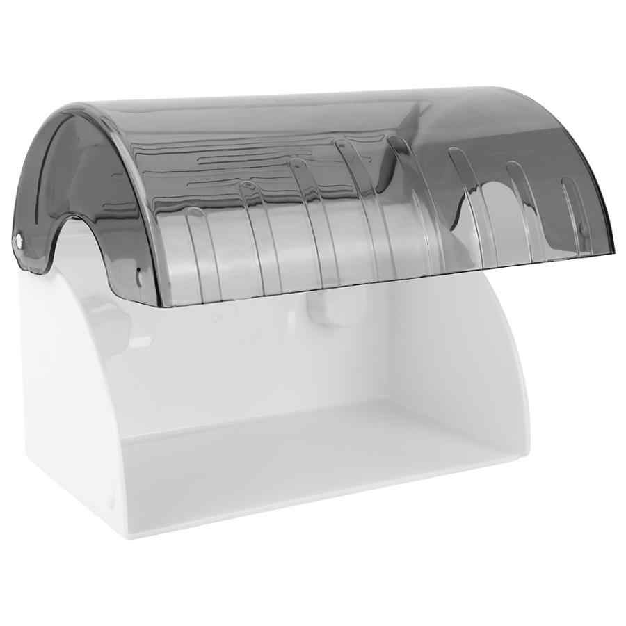 Держатель рулона унитаза водонепроницаемый прозрачный туалетная рулонная бумага коробка для хранения салфеток держатель диспенсер настенный бумажный полотенце