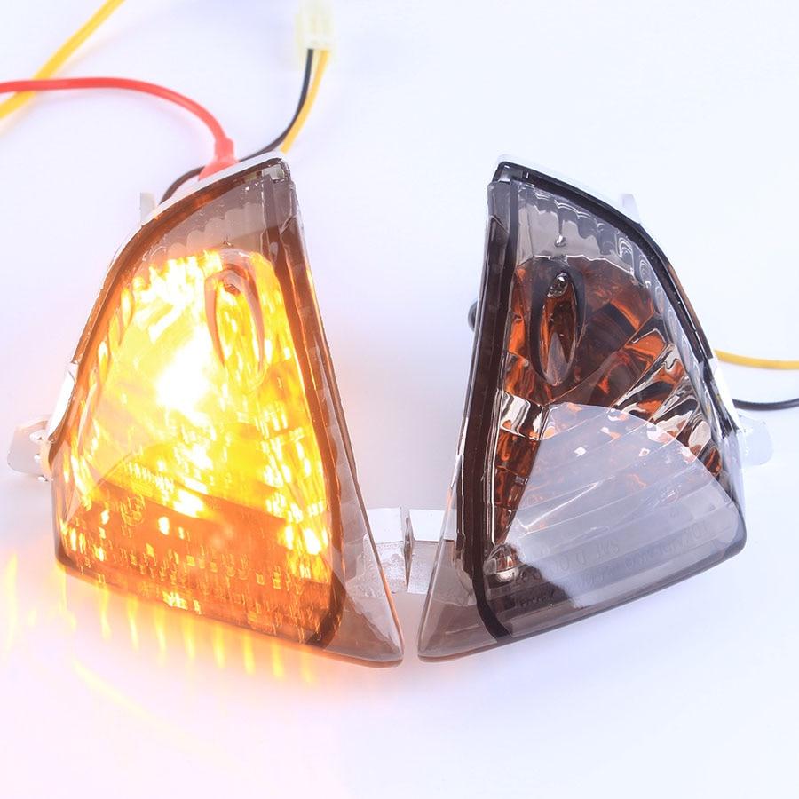 Rear Flush Mount Turn Signal Lamp light For Suzuki GSXR 600 750 2006-2007 GSXR1000 2005-2006 Moto Accessories Smoke