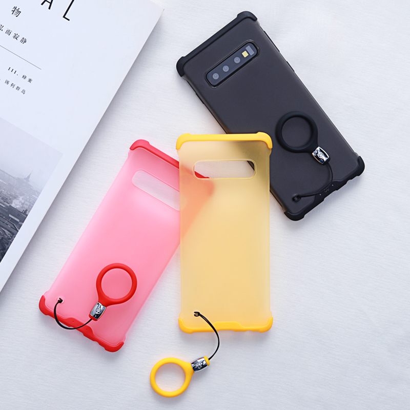 Bezel Free Protective Phone Case For Samsung Galaxy S10 E/E Plus/+ Candy Color Cute Cases With Airbags Bumper Martin