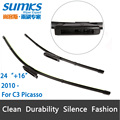 "Wiper blades for Citroen C3 Picasso ( from 2010 onwards ) 24""+16"" fit bayonet type wiper arms only, not push button"