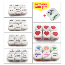 Fundic 7pcs/Set Fun Dices Romance dice Lover Couple Games Funny Flirting Toy for Adult Couples Housework dice(China)