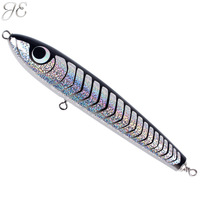 120g JE Topwater Wooden Stickbait GT Surface Trolling Lures Deep Sea Handmade Fishing Artificial Baits For