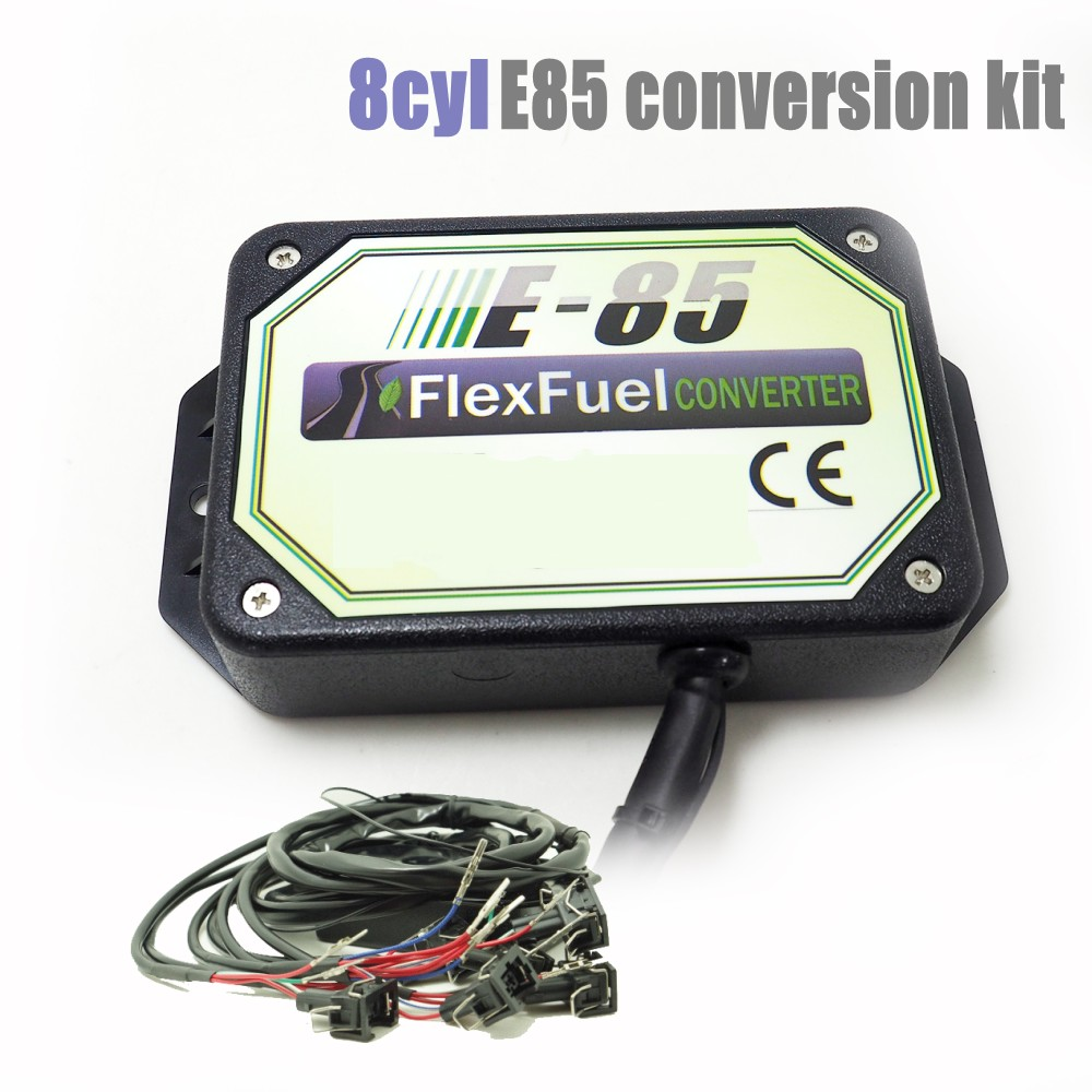 8 Cylinder E85 Conversion Kit Flex Fuel Ethanol Alternative Fuel With Cold Start Asst. Connectors Available For EV6,Delphi,Honda