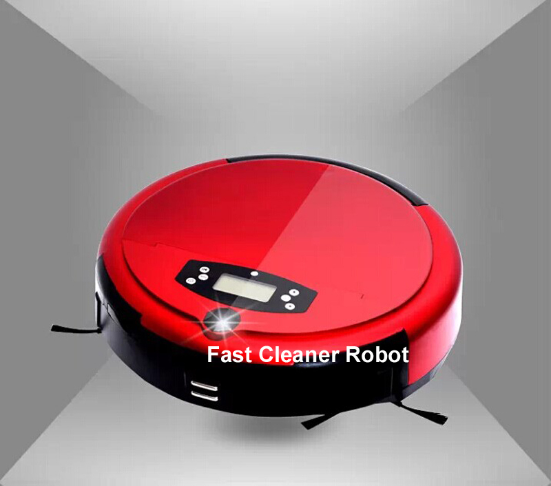 Free Shipping Voice/ Mopping  Function Robot Vacuum Cleaner With Self-charging,Two Side Brush,0.7L Dustbin,Anti-fall
