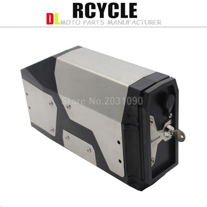 New Arrival! Tool Box For BMW r1250gs r1200gs lc & adv Adventure 2002 2008 2018 for BMW r 1200 gs Left Side Bracket Aluminum box-in Covers & Ornamental Mouldings from Automobiles & Motorcycles    2