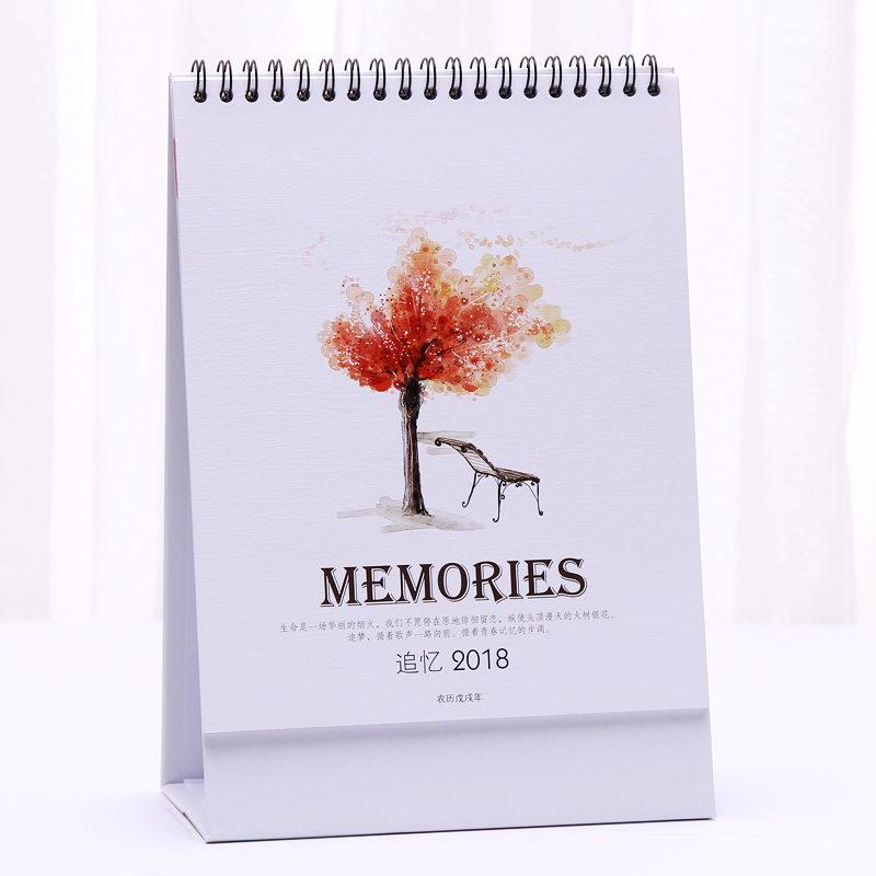 Calendar 2018 Creative Decoration Simple Desktop Plans Small Fresh Office Notepad Desk Calendar Table Planner Agenda Organizer