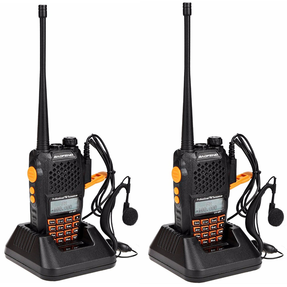 2pcs Baofeng UV-6R Walkie Talkie 7 watts Dual band Two Way Radio Pofung UV6R  HF Transceiver telsiz UV 6R Ham cb Radio station 1