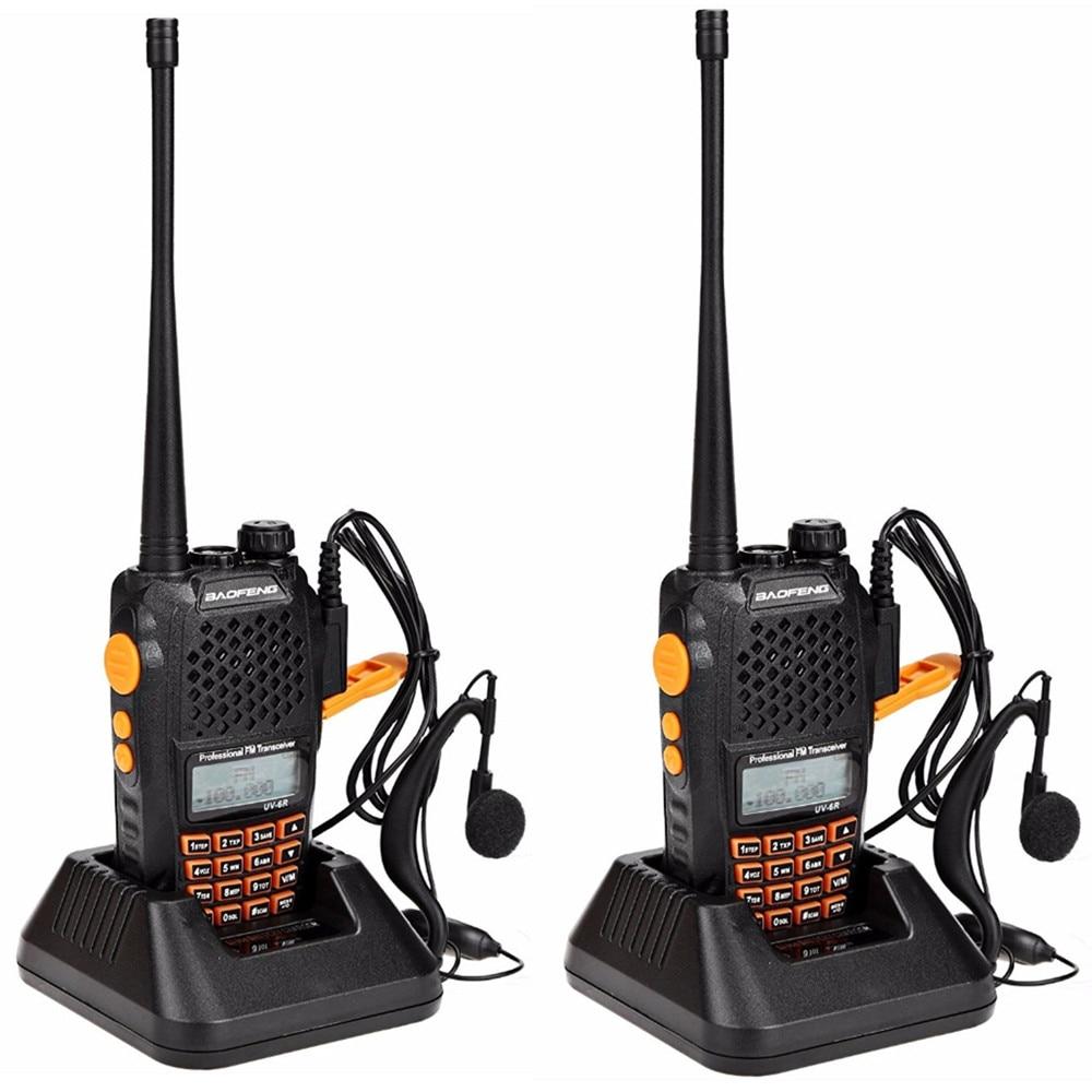 2pcs Baofeng UV-6R Walkie Talkie 7 watts Dual band Two Way Radio Pofung UV6R  HF Transceiver telsiz UV 6R Ham cb Radio station 1