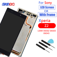 LCD For SONY Xperia Z2 LCD Display Touch Screen Digitizer Assembly Replacement D6502 D6503 D6543 LCD with Frame + Adhesive все цены