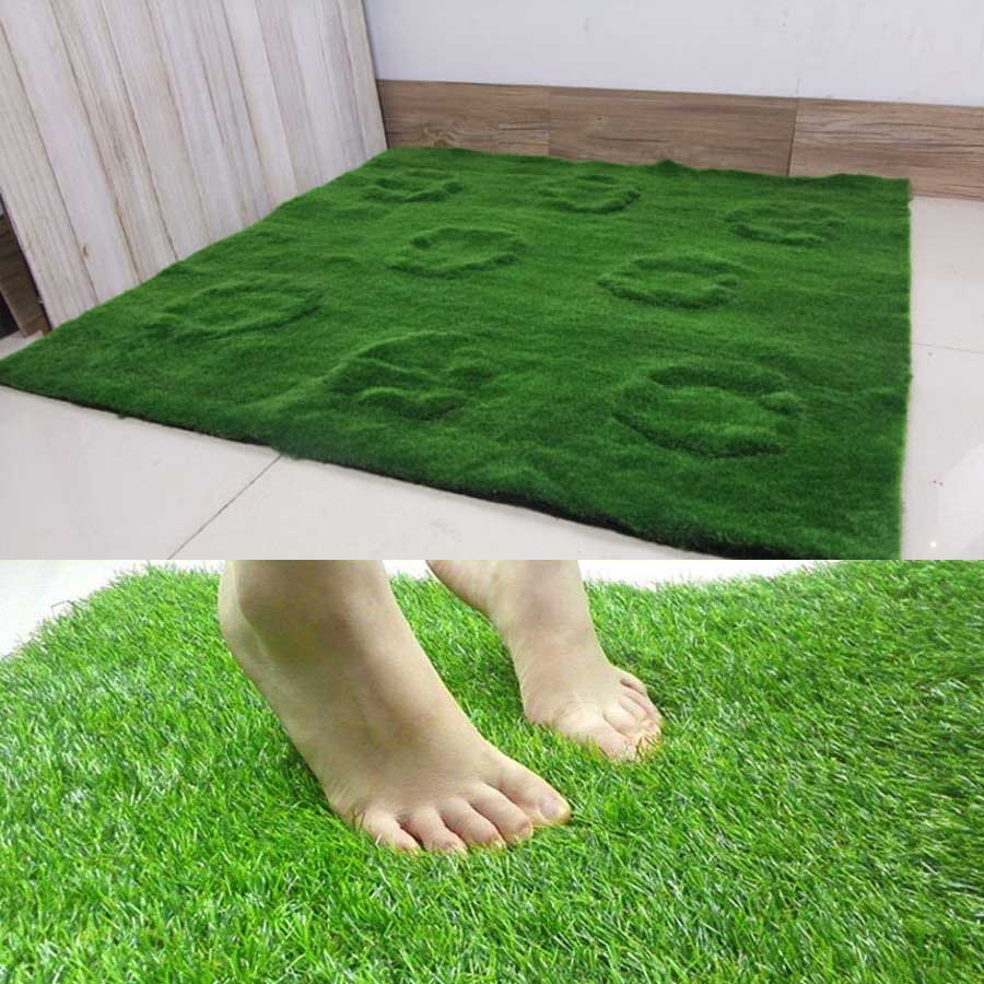 1M*1M Big Size Garden decoration  High Quality Artificial Glass Flower Simulation Green Plant Wall Moss Turf Lawn Gre