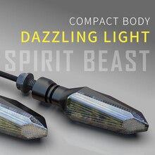 Motocicleta luces de giro lámpara LED ámbar señales de giro indicadores luces intermitentes Universal para Honda KTM Kawasaki Suzuki Ducati BMW