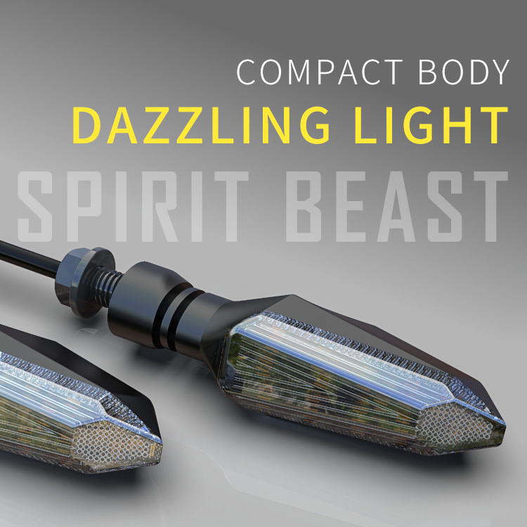 Motorcycle Turn Signal Lights LED Amber Lamp Turn Signals Indicators Flashers Universal for Honda KTM Kawasaki Suzuki Ducati BMW