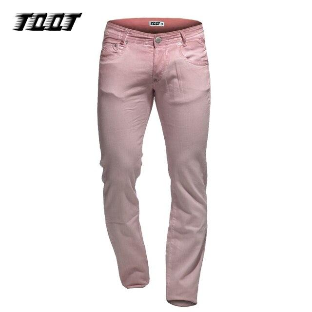 TQQT длинные брюки красочные брюки стрейч mateial 5 карманы полная длина брюки прямые плюс размер цветные брюки 5P0609